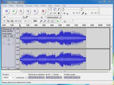 Audacity: free and multiplatform audio editor
