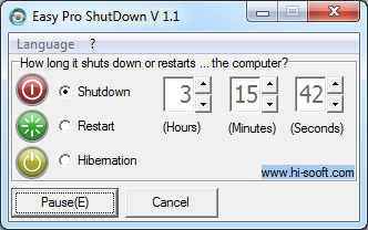 Easy Pro ShutDown: automatic switch off, reboot and sleep